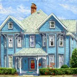 224 West Church Street,  Oil on panel 16 x 20,  Private Collection