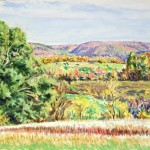 Autumn, 711 North Oil on panel, 14 x 16, Private Collection