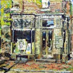 "A.John Kammer, <i> Powelton Village Pharmacy, </i><br> Oil on canvas  16"" x  20"""