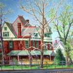 Baker House V, Oil on canvas