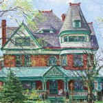 Baker House III, Oil on canvas, Private Collection