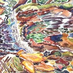 Cynthia Hough  <i>Adams Falls</i><br> Watercolor 18 x 24