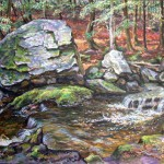 Connecticut Stream,  Oil on canvas 32 x 40 Private Collection