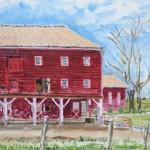 Little Oat Farm,  Oil on Panel 11 x 14,