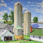 Frye-Weaver Farm,  Oil on canvas 20 x 20,  Private Collection