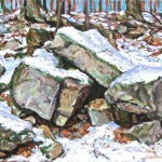 Furnace Run II,  Oil on panel 12 x 14, Private Collection