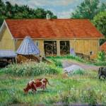 Guyer Farm,  Oil on Panel, 18 x 24