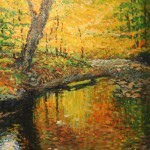 Tree by Pond Sandy Jackson Oil on cancas