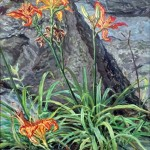 Day Lilies, Oil on canvas, 38 x 24