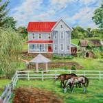 Matson Farm, Oil on panel, 20 x 24