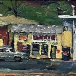 The Tea Pot and Lashley Garage,   Oil on Panel,   Kevin Kutz