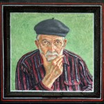Introspection,  Oil on panel 14 x 14