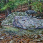 Devil's Hole, Oil on panel,  Private Collection