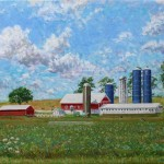 Somerset County Dairy Farm, Oil on Canvas, 18 x 24
