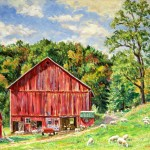 Kinsey Farm II, Oil on Canvas 16 x 20, Private Collection