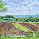 View from Barron Road,  Ligonier PA Oil on Panel 10 x 16