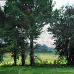 "Louis Sloan Untitled oil on panel 12"" x 17"""