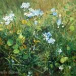"""Louis Sloan  Wildflowers  Oil on canvas  18 """" x  24"""""""