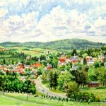 Ligonier from Cemetery Hill, Oil on Canvas 20 x 30, Private Collection