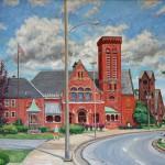 Main Street Latrobe II (2013), Oil on canvas, 26 x 31