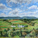 Marker Farm (Late Summer),  Oil on Canvas 20 x 30, Private Collection