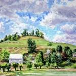 McCaunnaughey Farm VII, Oil on canvas 11 x 14 Private Collection