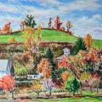 McConnaughey Farm in Fall Oil on Panel 11 x 13