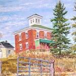 McConnaughey Farm I.  Ligonier, PA,  Oil on Canvas 16 X 18