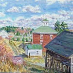 McConnaughey Farm IV, Oil on Panel 12 x 19, Private Collection
