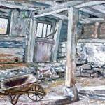 McConnaughey Barn Interior II Oil on Panel 10
