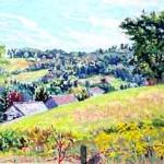 McConnaughey Farm VI, Oil on panel, 10 x 16, Private Collection