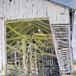 McConnaughey Tractor Shed, Watercolor 14 x 10, Private Collection