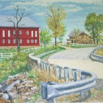 McNichol's Farm,  Casein on Board, 20 x 31