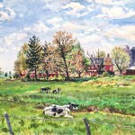 Sewell, New Jersey Dairy Farm, Oil on panel, 18 x 24. Private Collection