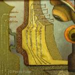 "Pedro Fuller  Musical Instruments  Oil on panel  15"" x 15"""
