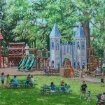 Playland, Latrobe PA, Oil on canvas, 20 x 30
