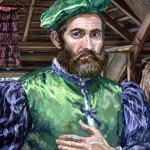 Renaissance Man-Detail,  Oil on canvas 30 x 40