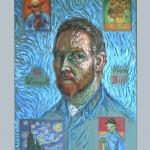 Ode to Van Gogh Mixed media 19 x 14