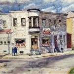 Selma's Deli, Watercolor Private Collection