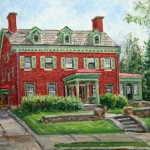 The Rodgers House-737 Weldon St., Latrobe Oil on panel 10 x 12, Private Collection