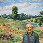 Uncle Earle, Last of the Farmers, Oil on Canvas, 40 x 48