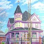 224 East Main Street I,  Oil on Canvas 30 x 24