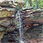 Adam Falls, Linn Run  Casein 19 x 14 Private Collection