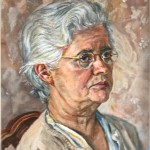 Portrait of the Artist's Mother Oil on canvas 12 x 10