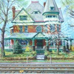 House on Baker Hill (Latrobe PA).  Oil on canvas 34 x 28,  Private Collection