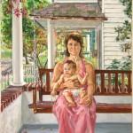 Bonnie & Sean, 1974 Oil on canvas, 40 x 26