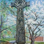 Calder's Cross, Harleigh Cemetary,  Casein 27 x 20,  Private Collection