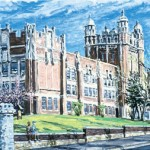 Camden High School,  Oil on panel 14 x 16,  Private Collection