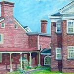 Camden County Historical Society,  Oil on panel 12 x 18