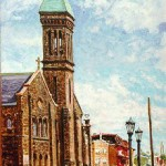 Church of Sts. Peter & Paul,  Oil on panel 18 x 12, Private Collection